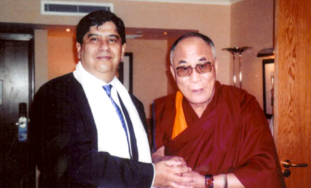 Sarosh Zaiwalla and Dalai Lama
