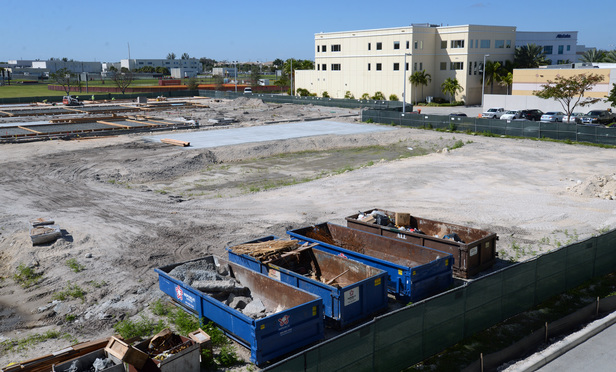 Silverspot Theatre construction at the Promenade at Coconut Creek