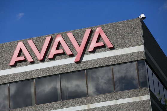 A logo sign outside of a facility occupied by Avaya Inc., in Billerica, Massachusetts on August 14, 2016.