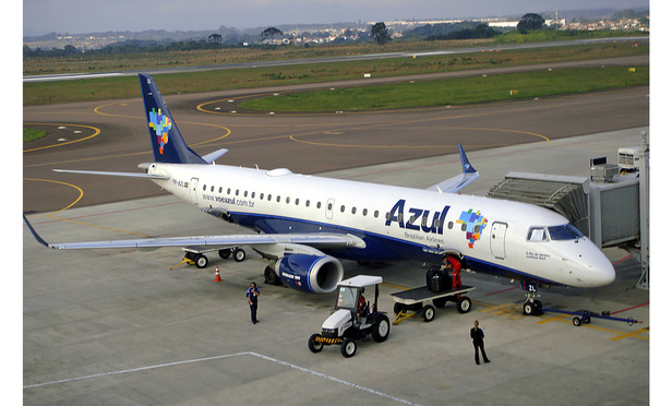 Azul Brazilian Airlines at Curitiba Airport (CWB) in Brazil.