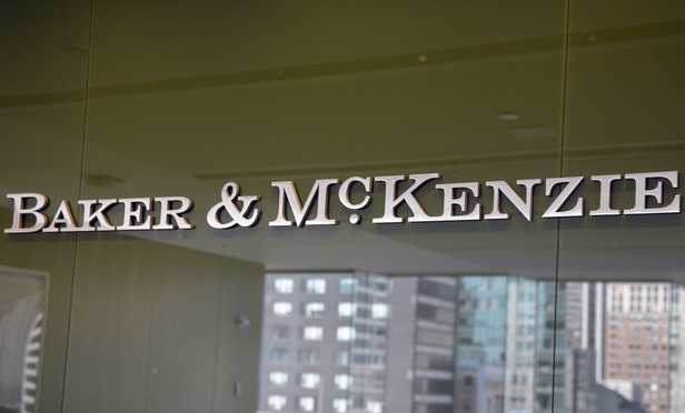 Baker & McKenzie offices in New York.