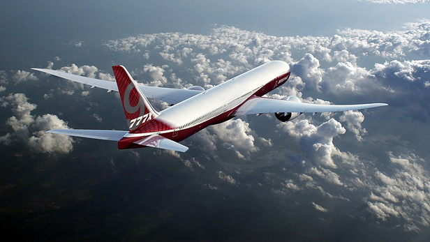 Rendering of Boeing 777x.