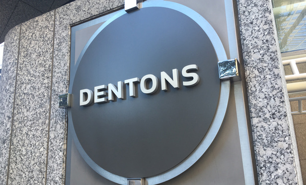 Dentons Signage in Atlanta.