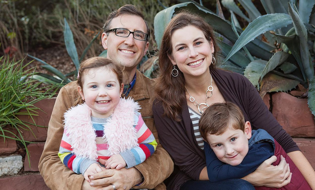 Matt, partner with Gibson, Dunn & Crutcher in Los Angeles, and Liz Dubeck, partner with O'Melveny & Myers in Los Angeles, and their children Emmett and Lillian, who both attend daycare at O'Melveny & Myers's Hope Street Friends daycare.