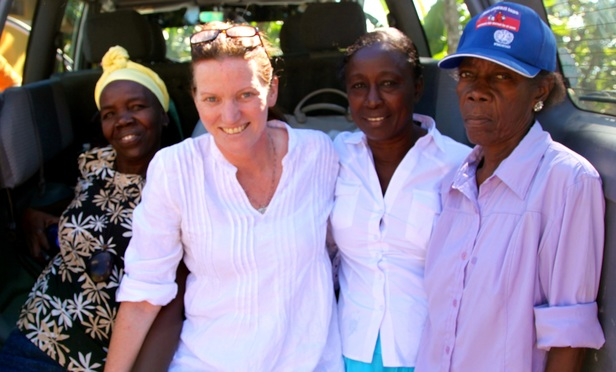 Jayne Fleming and leaders of Favilek, a Haitan women's rights group