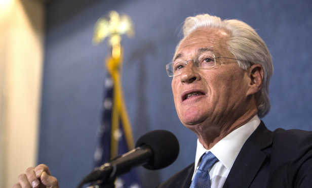 Marc Kasowitz, President Donald Trump's personal lawyer, speaks during a news conference at the National Press Club in Washington, D.C., on Thursday, June 8, 2017.