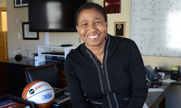 COURTSIDE: Michele Roberts this year left behind Big Law—she was a partner at Skadden, Arps, Slate, Meagher & Flom in Washington—to lead the National Basketball Players Association.