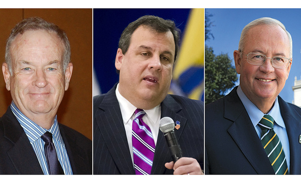 L-R Bill O'Reilly, Chris Christie and Ken Starr.