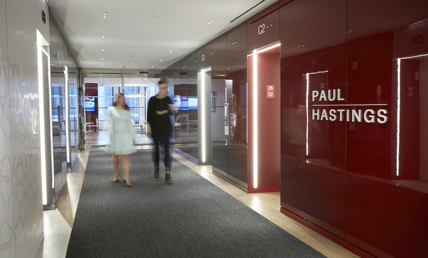 Paul Hastings sign at NYC offices