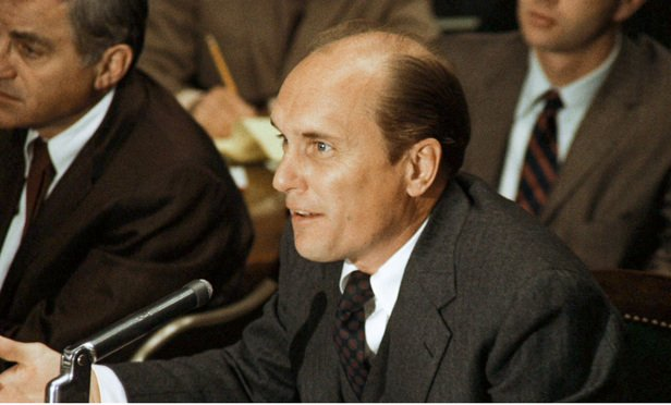 Robert Duvall playing Tom Hagen in The Godfather.