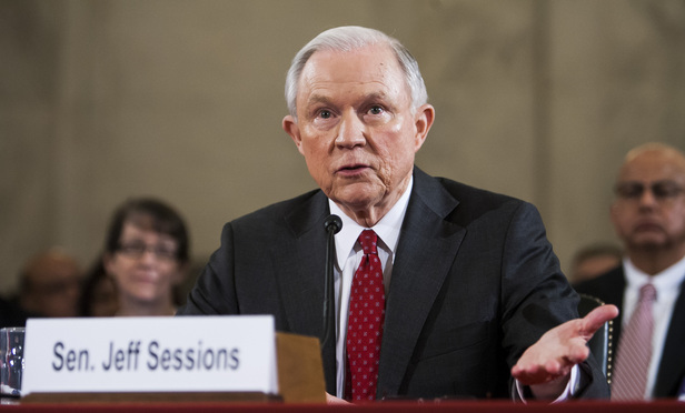Senator Jeff Sessions (R-AL) appears before the Senate Judiciary Committee in Washington during his confirmation hearing to be the next U.S. Attorney General, on Tuesday, January 10, 2017.