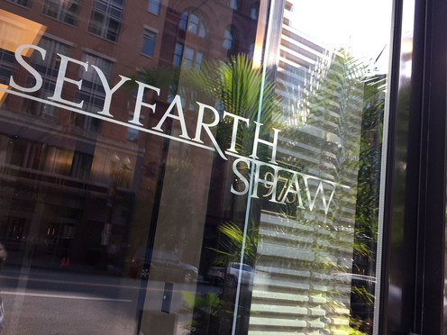 Seyfarth Shaw offices in Washington, D.C. September 15, 2016. Photo: Diego M. Radzinschi/ALM