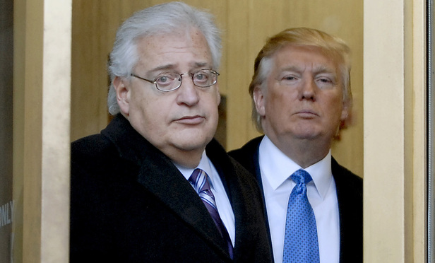 David Friedman, left, and Donald Trump in 2010.