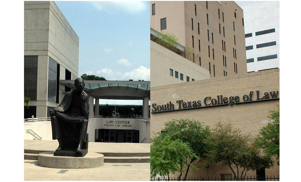 University of Houston Law Center, left, and South Texas College of Law Houston, right.