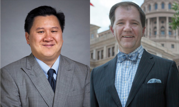 James Ho, a partner with Gibson, Dunn & Crutcher in Dallas, and Justice Don Willett of the Texas Supreme Court.
