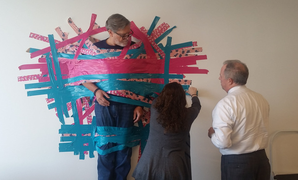 Lawyers Duct Tape Managing Partners to the Wall--for Charity