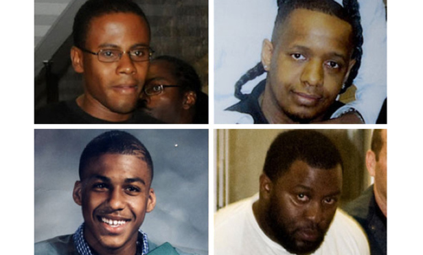 Clockwise from top left: Laguerre Payen, James Cromitie, David Williams and Onta Williams