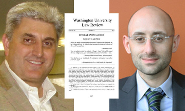 Robert Catalanello, left, said the article written by Zachary Kramer regarding a discrimination lawsuit filed against Catalnello by an ex-employee suggested the employee's allegations were proven facts.