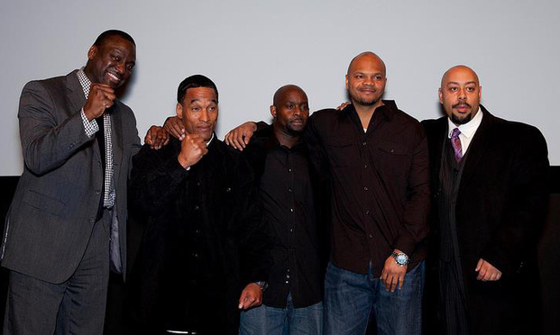 Yusef Salaam, Kharey Wise, Antron McCray, Kevin Richardson and Raymond Santana gathered at a showing of The Central Park Five documentary in 2012.
