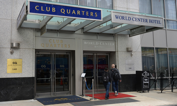Club Quarters World Center Hotel at 140 Washington St. in Manhattan