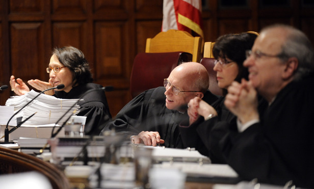 Judges of the New York Court of Appeals hear arguments about the potential of police deception to elicit a false confession in the cases of 'People v. Thomas' and 'People v. Aveni' in Albany on Tuesday.