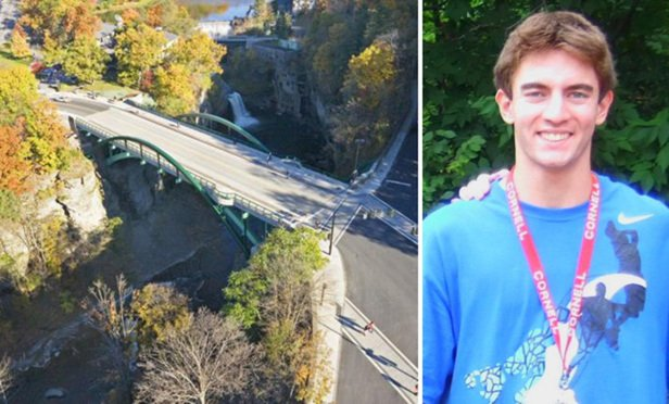 Bradley Ginsburg jumped to his death from the Thurston Ave. Bridge in 2010.