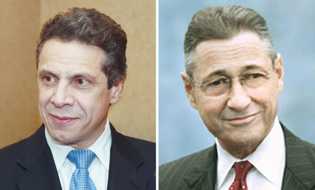Governor Andrew Cuomo, left, and State Assembly Speaker Sheldon Silver