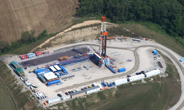 A fracking operation in southwestern Pennsylvania