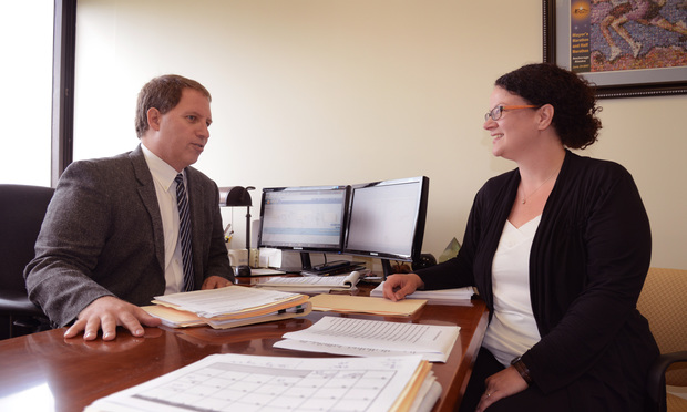 Theresa Hallet, director of admissions, and Robert M. Harrison, associate dean for admissions and student services at St. John's University School of Law discuss the screening process.