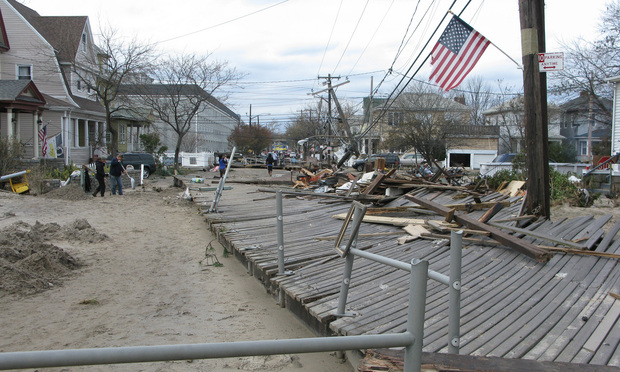 92nd Street in Rockaway, Queens, after Hurricane Sandy