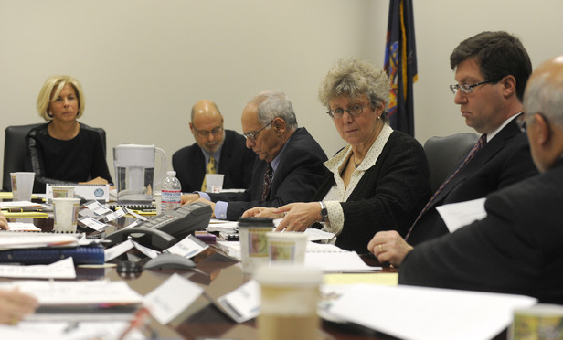 A meeting of the New York State Joint Commission on Public Ethics from 2011. From left are Janet DiFiore, Barry Ginsberg, Patrick Bulgaro, Ellen Yaroshefsky and Daniel Horwitz.