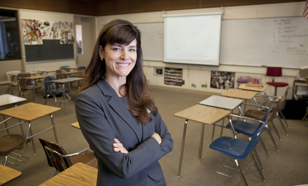 Carrie LeRoy, Skadden Arps, counsel. .Photographed at Gunn High School in Palo Alto...Photo: S. Todd Rogers