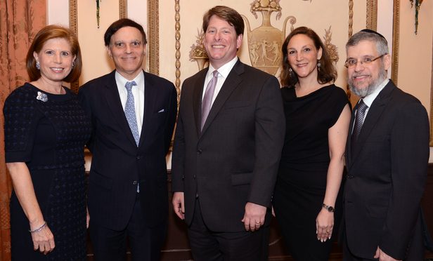 Abby Milstein, Second Circuit Chief Judge Robert Katzman, Matthew Biben, Sandra Hauser and Yisroel Schulman