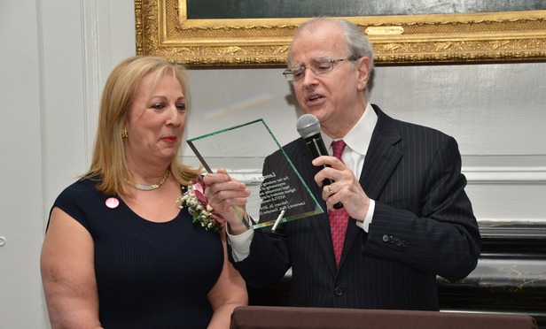 Lenore Kramer and Chief Judge Jonathan Lippman