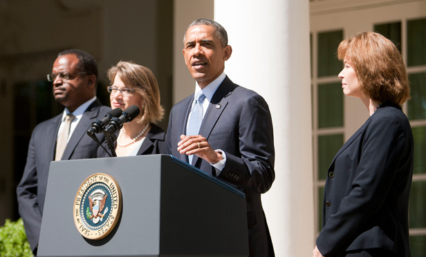 President Barack Obama announces three nominees to the U.S. Court of Appeals for the D.C. Circuit.
