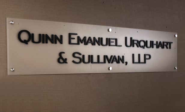 Sign in offices of Quinn Emanuel Urquhard & Sullivan