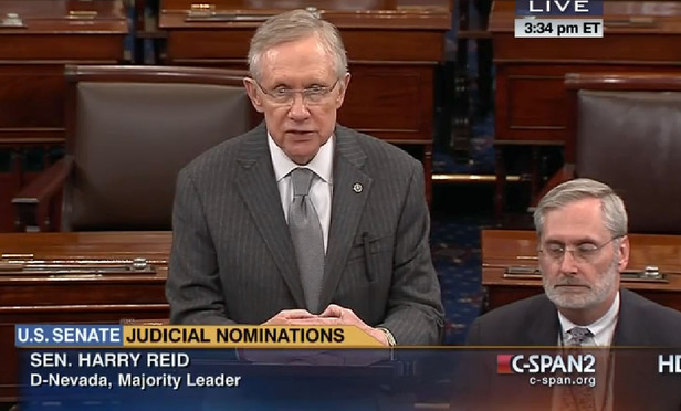 Senate Majority Leader Harry Reid )D-Nevada) took to the floor Thursday to complain about the slow pace of judicial nominations.