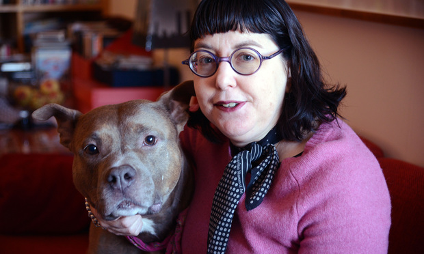 Rosie, with her owner Stephanie Aaron