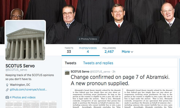 Tracking Changes to Supreme Court Opinions, One Word at a Time