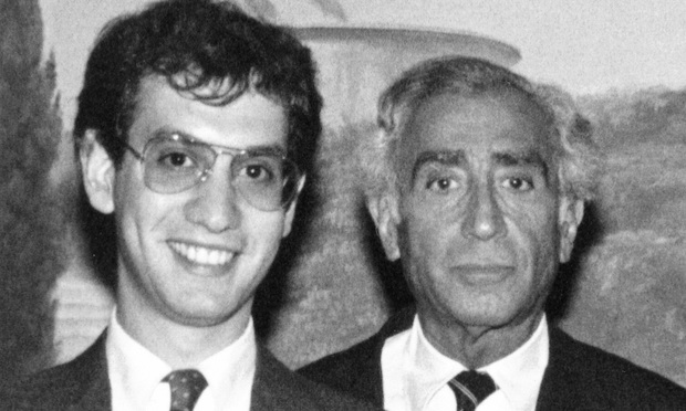 An early photo of Adam Silver with his father, former Proskauer Rose labor attorney Edward Silver. The elder Silver died in 2004.