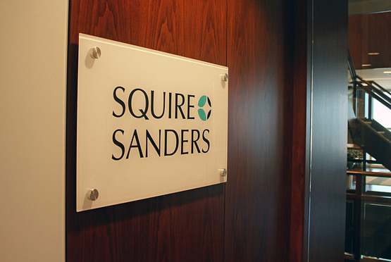 04/03/12-- Miami-- Squire Sanders firm entrance in Miami.