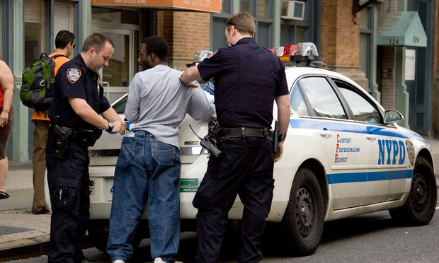 New York police conduct a stop and frisk in 2009.