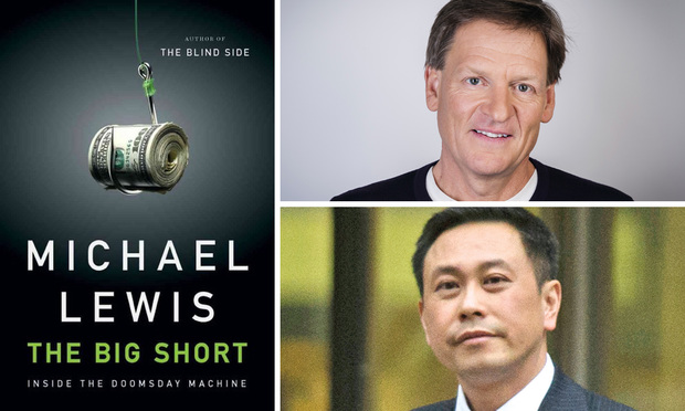The Second Circuit ruled that statements made in 'The Big Short' by Michael Lewis (top right) about CDO manager Wing Chau and his company were either opinion or consisted of 'substantial truth.'