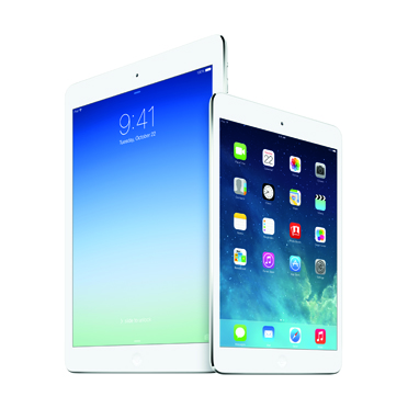 Apple iPad Mini (left) with iPad Air