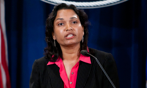Acting Assistant Attorney General Mythili Raman