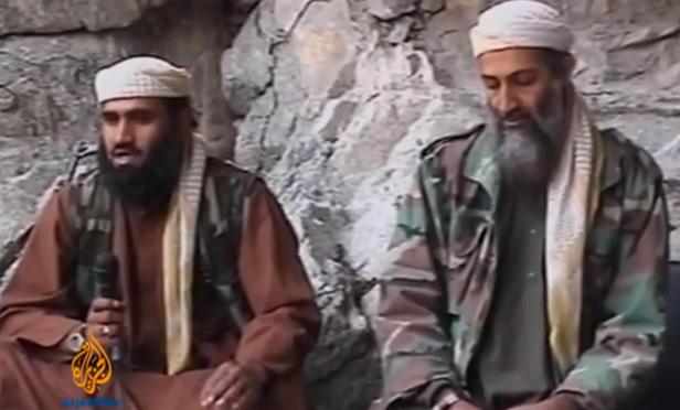 Sulaiman Abu Ghayth and Osama Bin Laden on Oct. 7, 2001