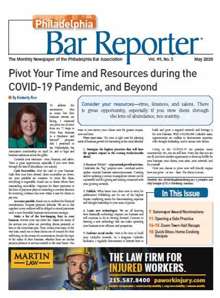 Philadelphia Bar Reporter Cover Image