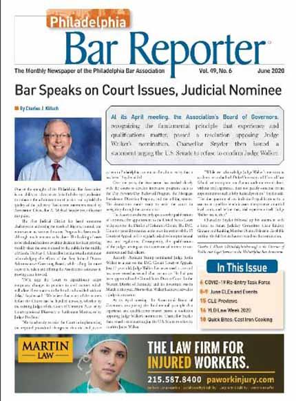 Phila. Bar Reporter Digital June 2020