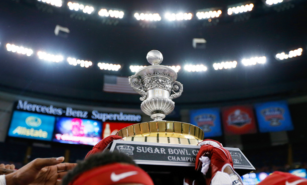 The Allstate Sugar Bowl at the Mercedes-Benz Superdome on January 2, 2014 in New Orleans, Louisiana.